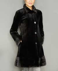 The Fur Vault Reversible Mink Coat Black Black