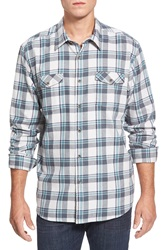 Quiksilver Waterman Collection 'Forest Beach' Flannel Sport Shirt Glacier