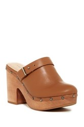 Chinese Laundry Walk On Leather Platform Clog Brown