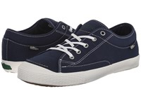 Simple Wingman Navy Canvas Men's Shoes Blue