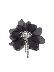 Lanvin Oversized Flower Brooch Black