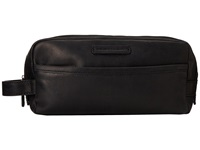 Frye Logan Travel Dopp Large Black Antique Pull Up Toiletries Case
