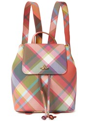Vivienne Westwood Derby Tartan Coated Canvas Backpack Multicoloured