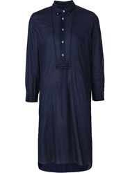 Comme Des Garcons Comme Des Garcons Long Sleeve Shirt Dress Blue