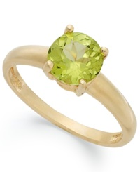 Victoria Townsend 18K Gold Over Sterling Silver Ring Peridot August Birthstone Ring 1 1 4 Ct. T.W.