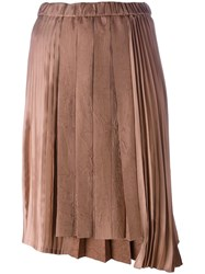 N 21 No21 Satin Effect Pleated Skirt Pink Purple