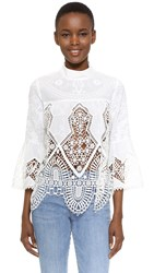 Anna Sui Victorian Lace Top White