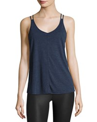 Alo Yoga Mold Strappy Cutout Activewear Tank Navy