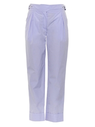 Nina Ricci Buckle Fastening Cropped Cotton Trousers