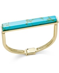 C.A.K.E. By Ali Khan Inc International Concepts Going Global Gold Tone Flat Top Turquoise Look Bangle Bracelet Only At Macy's