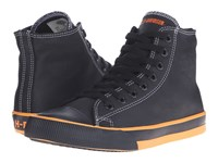 Harley Davidson Flora Black Orange Women's Lace Up Casual Shoes