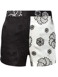Ann Demeulemeester Embroidered Mini Shorts Black