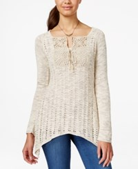 American Rag Open Knit Asymmetrical Hem Pullover Sweater Only At Macy's