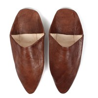 Bohemia Pointed Babouche Slippers Brown