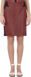 O'2nd Lace Breath Pencil Skirt Red