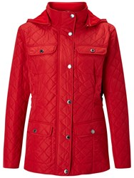Four Seasons Polar Quilted Fleece Jacket Red