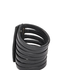 Rick Owens Half Megga Naked Leather Cuff Black