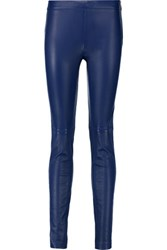 Emilio Pucci Leather Skinny Pants Royal Blue