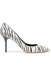 Casadei Zebra Print Calf Hair Pumps Animal Print