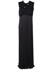 Maison Rabih Kayrouz Pleated Evening Dress Black