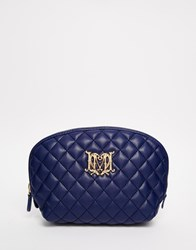 Love Moschino Quilted Make Up Bag Navy