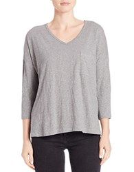 Lord And Taylor Pullover Dolman Tee Heather Grey