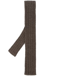 Eleventy Wool Tie Brown