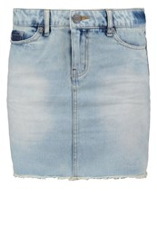 Noisy May Nmpatty Denim Skirt Light Blue Denim