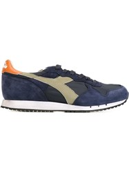 Diadora Panelled Sneakers Blue