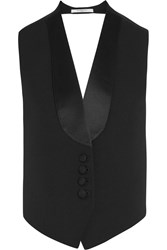 Givenchy Vest In Black Wool And Satin