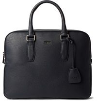 Hugo Boss Gardo Grained Leather Briefcase Blue