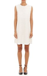 Goen.J Women's Lace Shift Dress Cream