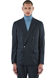 Marni Creased Double Breasted Jacket Grey