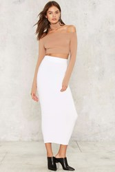 Body Conventional Maxi Skirt White
