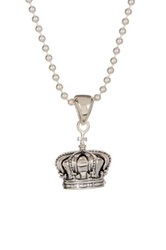Lagos Sterling Silver Crown Pendant Necklace Metallic