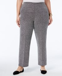 Alfred Dunner Plus Size Wrap It Up Collection Herringbone Wide Leg Pants Oxford