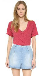 Free People Pearl's Tee Red Blossom