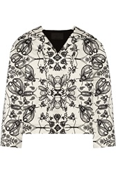 Alexander Wang Hooded Insect Print Cotton Blend Sweatshirt White