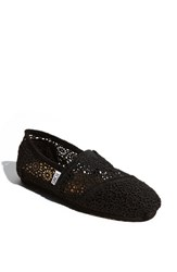 Women's Toms 'Classic' Crochet Slip On Black