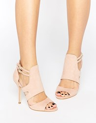 Miss Kg India Cut Out Heeled Sandals Beige
