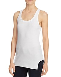 Wilt Notch Hem Racer Tank White