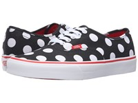 Vans Authentic Polka Dot Black Fiery Red Skate Shoes