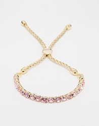 Love Rocks Pink Crystal Friendship Bracelet