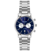 Rotary Gb02730 05 Men's Sports Avenger Chronograph Stainless Steel Bracelet Strap Watch Silver Blue