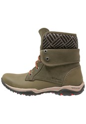 Columbia Cityside Fold Waterproof Walking Boots Nori Spicy Oliv