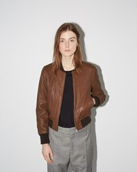 Etoile Isabel Marant Brantley Leather Bomber Brown