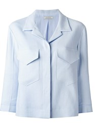 Nina Ricci Single Breasted Blazer Blue