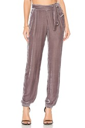 Young Fabulous And Broke Ciarra Velvet Pant Charcoal