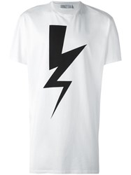Neil Barrett Lightning Bolt Print T Shirt White