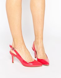 Ravel Point Sling Mid Heeled Shoes Pink